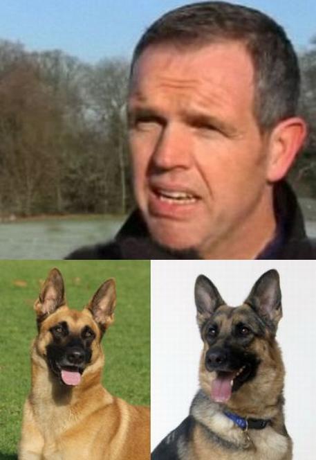 Кинолог Иан Крейвен и погибшие собаки. Фото с сайта ©dailymail.co.uk