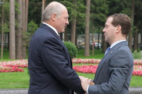 Александр Лукашенко и Дмитрий Медведев. Фото <a >© РИА Новости</a>. Михаил Климентьев