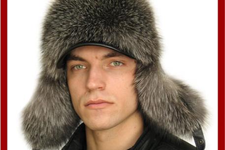 Мужская вязаная шапка скандинавская