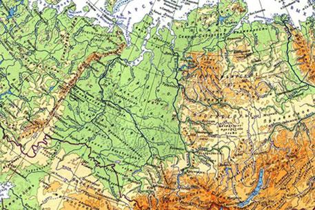 Карта Сибири.  Фото с сайта dic.academic.ru.