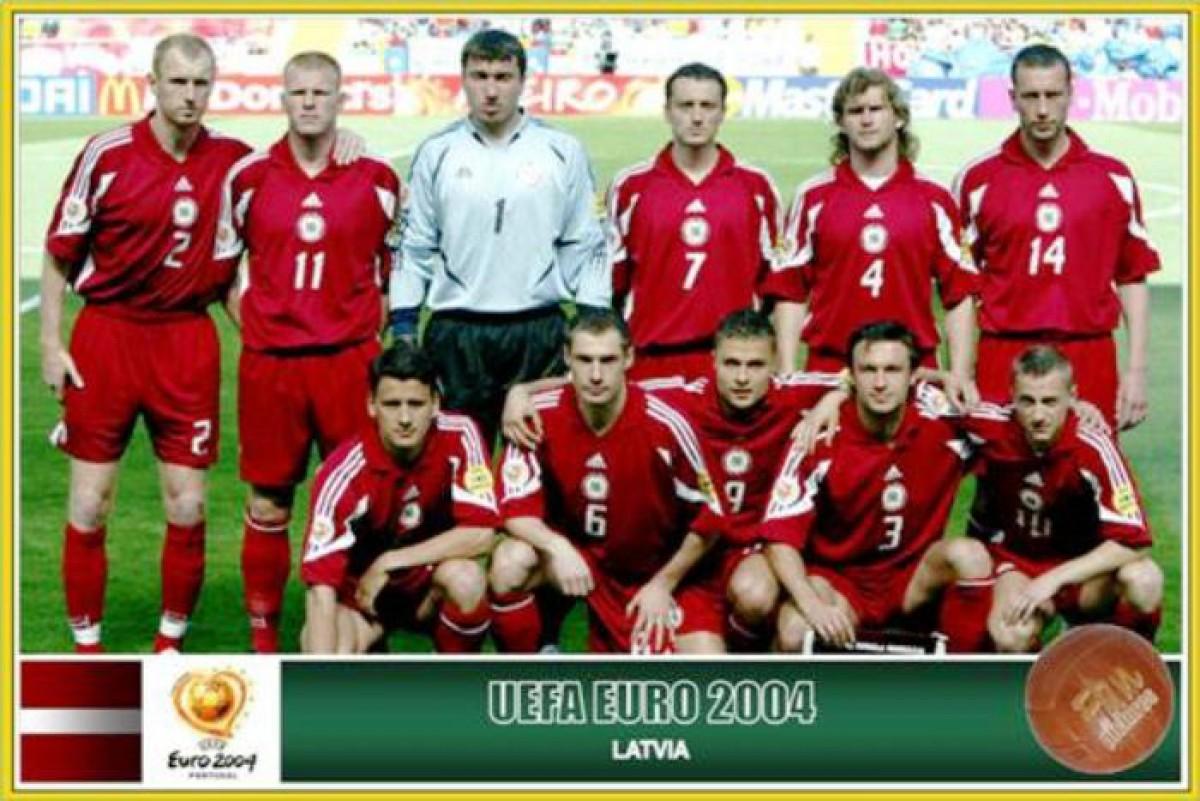 Латвия футбол история