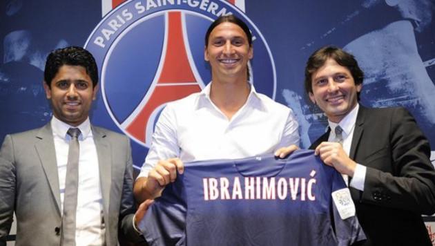 Ибрагимович подписал трехлетний контракт с ПСЖ