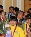 ФОТО: Олимпийских чемпионок встретили в аэропорту Алматы