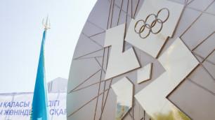ФОТО: В Алматы установлен памятник олимпийцам