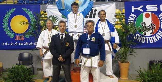 Казахстанский каратист впервые стал чемпионом Европы