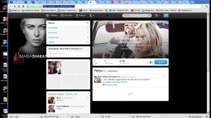 Мария Шарапова завела твиттер
