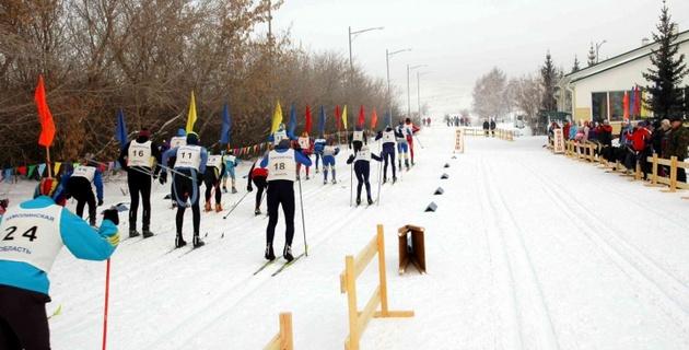 Чемпионат и первенство Акмолинской области по лыжным гонкам - 2013