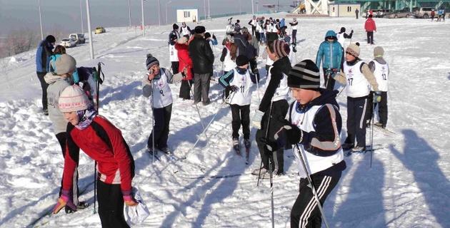 Первенство школьников Алматы по лыжным гонкам - 2013
