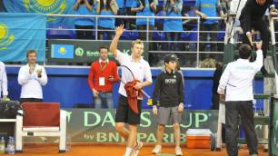 Андрей Голубев вывел сборную Казахстана вперед в матче Кубка Дэвиса