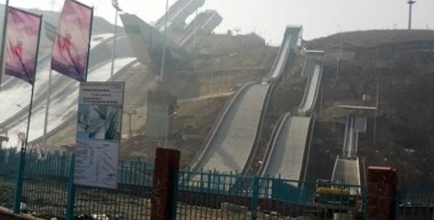 Три лыжных трамплина в Алматы будут достроены к лету 2013 года