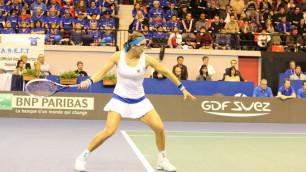 Ярослава Шведова восстановила равновесие в матче Казахстан - Франция