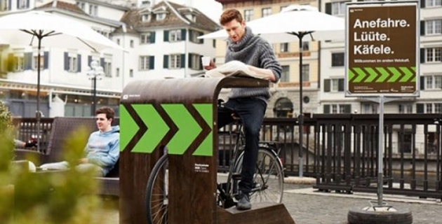 В Швейцарии открылось первое в мире велокафе