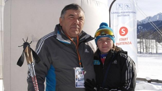 Будущая участница Олимпийских игр тренируется на окраине города