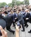 Визит Бекхэма в университет Шанхая спровоцировал массовую давку (+фото)