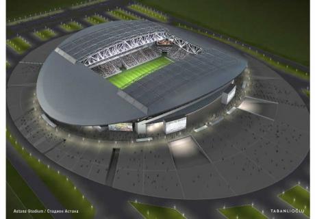 """Кажимукан """" - новый футбольный стадион будущего в Астане."""