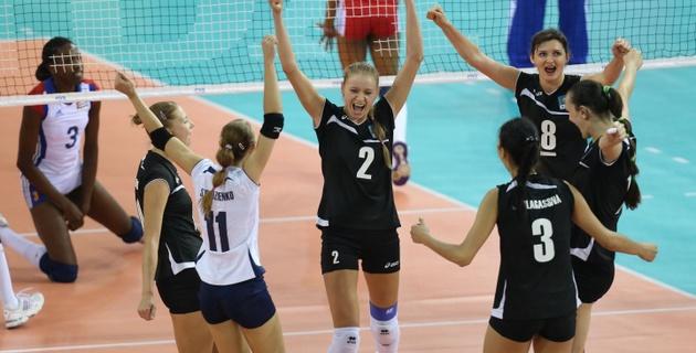 Казахстанские волейболистки одержали первую победу в сезоне мирового Гран-при