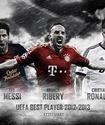 Роналду обойдет Месси и Рибери в борьбе за приз лучшему игроку Европы?