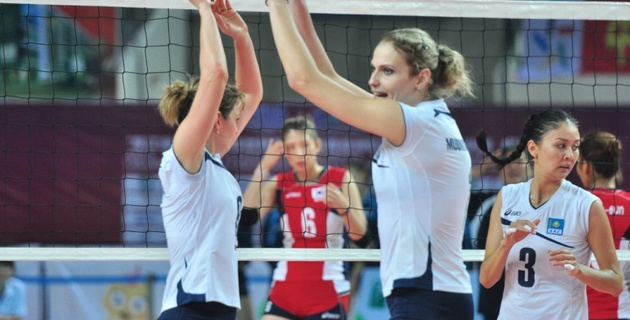 Казахстанские волейболистки пробились на чемпионат мира