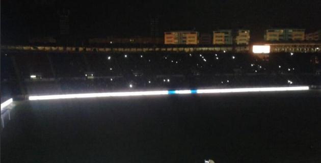 Матч чемпионата Испании прервали из-за отключения электричества на стадионе