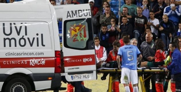 Футболисту испанского клуба сломали челюсть во время матча