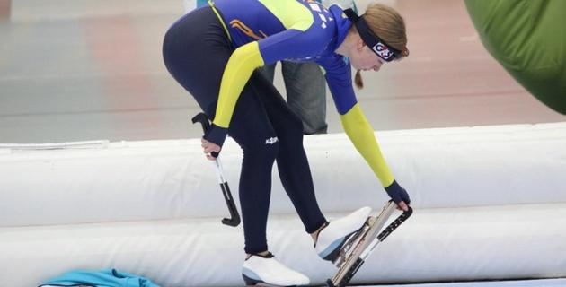 Айдова обновила рекорд Казахстана на равнинных катках на домашнем Кубке мира