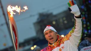 Валуев чуть не проспал этап эстафеты олимпийского огня в Кемерово