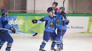 Казахстанские хоккеисты вышли в финал Универсиады в Трентино