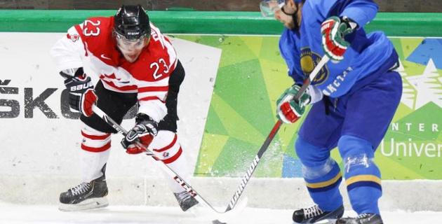 Трансляция финала хоккейного турнира Универсиады Казахстан - Канада