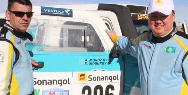 Шагиров и Мороз стали третьими на третьем этапе Africa Eco Race