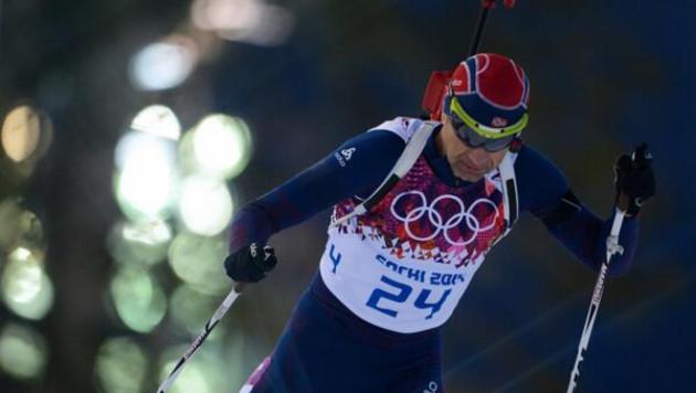 """Олимпиада в Сочи: Легендарный Бьорндален выиграл """"золото"""" в биатлонном спринте"""