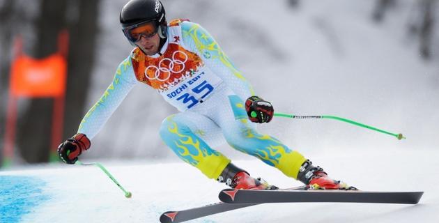 Казахстанец Закурдаев 37-й после скоростного спуска на Олимпиаде в Сочи