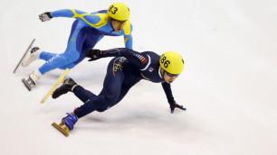 Казахстанские шорт-трекисты не прошли в 1/4 финала в забеге на 500 метров на Олимпиаде