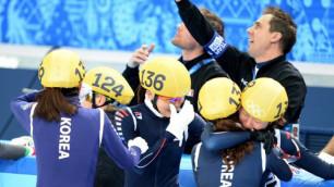 Корейские шорт-трекистки выиграли эстафету на Олимпиаде в Сочи