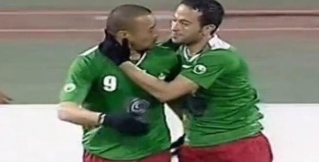 В Иордании футболист забил гол пяткой с 30 метров