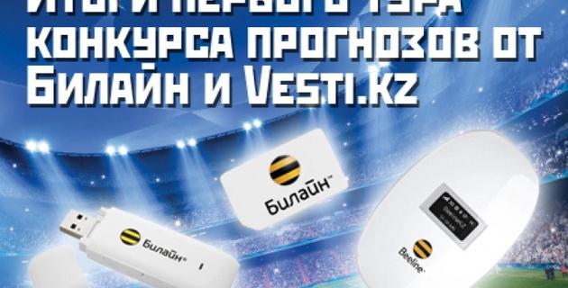 Итоги 1 тура конкурса прогнозов от Vesti.kz и Beeline