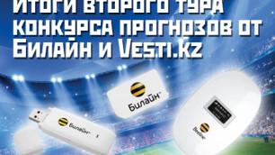 Итоги 2 тура конкурса прогнозов от Vesti.kz и Beeline