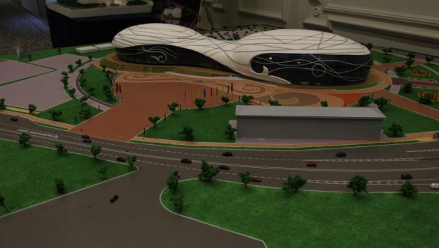 Оргкомитет Универсиады в Алматы представил макеты ледовых арен и атлетической деревни