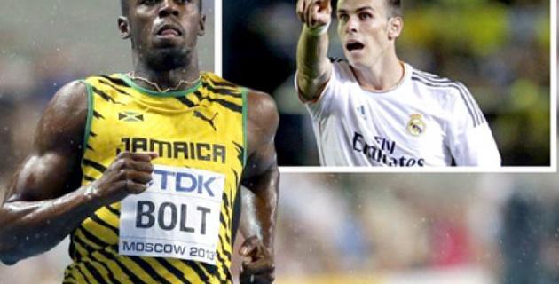 Усейн Болт  назвал Бэйла самым быстрым футболистом в мире
