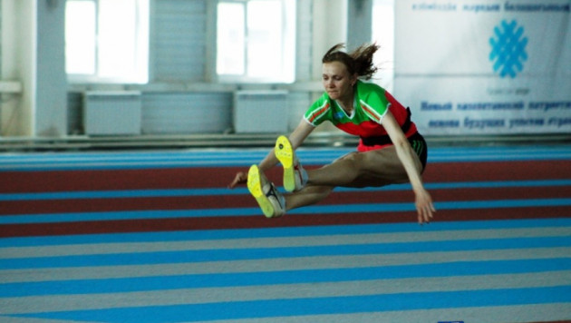 Рыпакова провела первую тренировку в легкоатлетическом центре имени себя