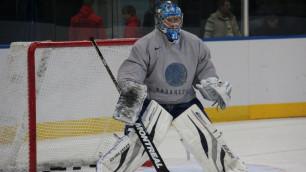 Сборная Казахстана по хоккею вышла на лед в новой тренировочной форме