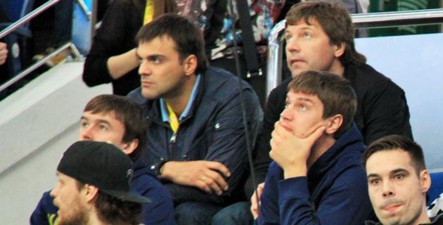 Сборная Казахстана по хоккею посетила матч Россия - Швейцария