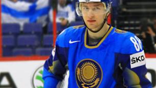 Рымарев забил шайбу в первом матче за сборную Казахстана по хоккею на ЧМ в Минске