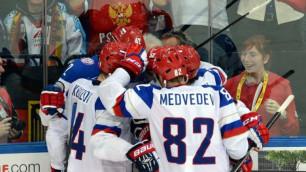 Сборная России выиграла шестой подряд матч на ЧМ по хоккею