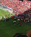 Во время матча чемпионата Испании обрушилось заграждение на трибуне