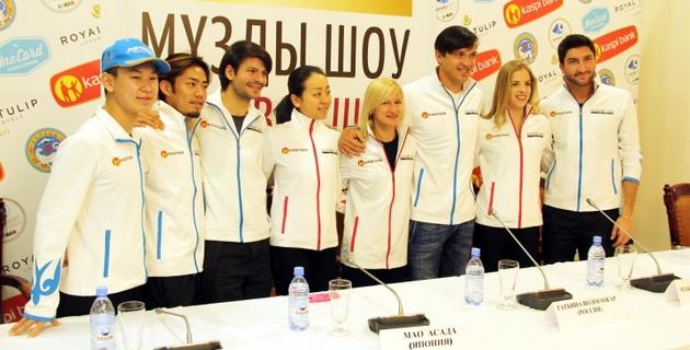 Звезды фигурного катания прилетели в Алматы для участия в шоу Дениса Тена
