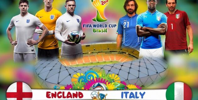 Игровой симулятор предсказал исход матча ЧМ-2014 Англия - Италия