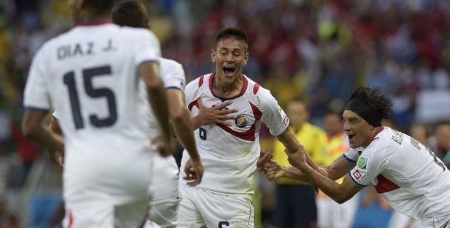 Коста-Рика сенсационно обыграла Уругвай на ЧМ по футболу в Бразилии