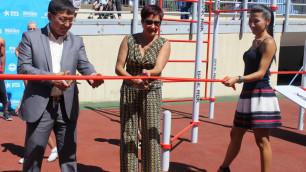 Олимпийская чемпионка Ольга Шишигина открыла площадку для Street Workout в Алматы