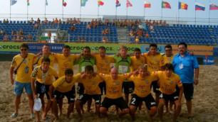 Казахстан не сможет сыграть с Россией в отборе к ЧМ-2015 по пляжному футболу