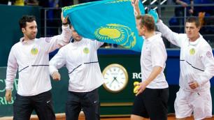 Теннисисты сборной Казахстана поддержат футболистов в матче с Латвией